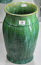 John Campbell Green Glaze Honey Pot Vase, Height - 26cm