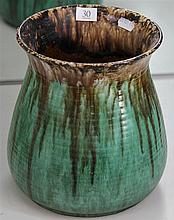 John Campbell Green, Brown & Rust Glaze Vase AF, Height - 22cm