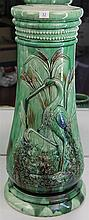 John Campbell Waterbird Motif Jardiniere Stand, Unsigned, Height - 67cm