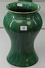 John Campbell Green Glaze Baluster Vase, with Hairline Crack, Height - 27cm