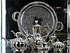 Silver Plated James Dixon & Sons Tea & Coffee Service including sugar tongs and Strachan Tray