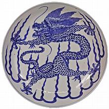 Chinese Fine Porcelain Dragon Dish