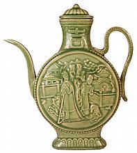 Chinese Celadon Lidded Teapot