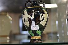 Foley 'Intarsio' Wielman & o. Vase with Mermaid Pattern 3016, restoration