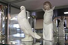 Lladro Figure of Angel and Nao Dove
