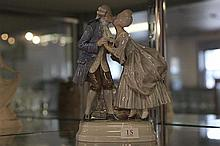 Royal Copenhagen Figure of Courting Couple in 18th Century Dress