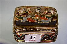 1920's Satsuma Trinket Box