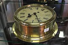 Brass Ships Clock (key in office)