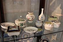 Collection of Porcelain Dressing Table Pieces incl Wedgwood, Crown Staffordshire, Belleek, etc