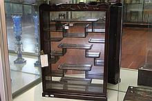 Chinese Rosewood Trinket Cabinet w Mirror Back