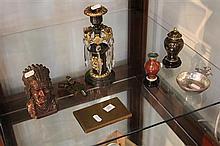 Metal Wares incl Cloisonne Vases, American Money Box, Poringer, etc