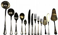 Austro-Hungarian 800 Standard Silver Cutlery Seeting for Twelve Persons