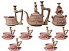 Rudolstadt Bisque Pink & Green Novelty Tea Set for Six Persons