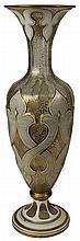 Bohemian Gilded Art Glass Vase