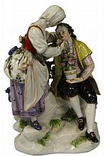Meissen Late 19th Century Figure Group Allegorical of Love