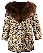 Wild Cat Fur Ladies Coat