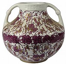 Nymphenburg Vase with Painted Design by Adelbert Niemeyer