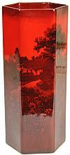 Royal Doulton Flambé Hexagonal Vase