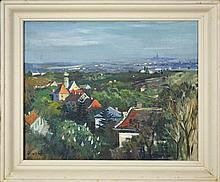 Hermann Kosel (1896-1983) - Landscape with Buildings 73 x 60cm