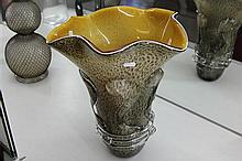 Art Glass Large Speckled Vase