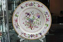 Royal Worcester Hand Enamelled Chinoiserie Plate with Puce Mark