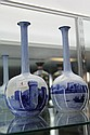 Doulton Burslem Pair of Vases Featuring Cowling Castle Kent & Loch Leven Castle (One with Small Chip to Rim)