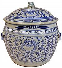 Chinese Blue & White Lidded Jar