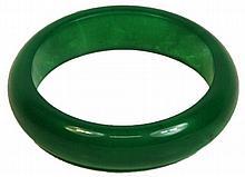 Chinese Apple Green Quartzite Bangle
