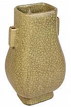 Chinese Gu Shape Crackle Glaze Vase