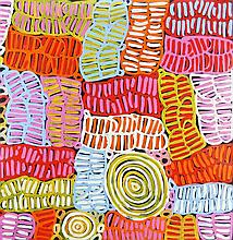 Betty Club Mbitjana (c.1954 - ) - Awelye Bush Melon 70 x 70cm