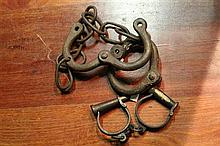 2 Pairs of Iron Manacles