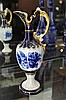 Royal Dux Blue and Gilt Jug