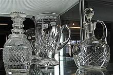 Stuart Crystal Jug and 2 Crystal Decanters