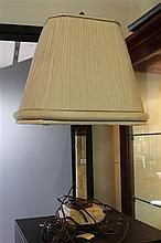 Empire Style Marble and Brass Column Form Lamp