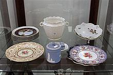 Royal Doulton Plates, Aynsley Jardiniere, Wedgwood Containers and other China Ware