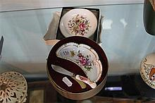 Royal Crown Derby boxed Butter Dish and Knife and other China Ware