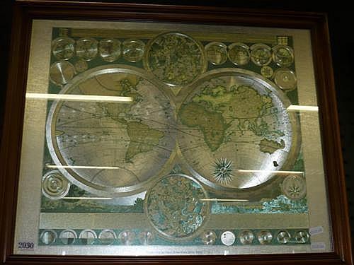 World Map by Peter Schenk the Elder, 1645-1715