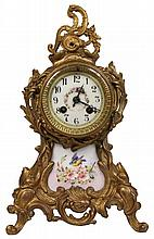 Gilded Bronze Mantle Clock