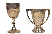 English Hallmarked Sterling Silver Cup & a Sterling Silver Trophy Cup