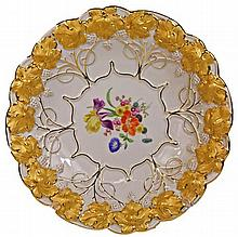 Meissen Plate Painted with Flowers