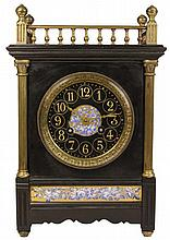 Black Slate & Brass Mantle Clock