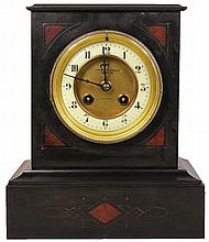 Fattorini & Sons Black Slate Clock