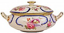 Derby Hand Painted Lidded Sugar Pot