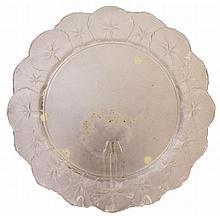 Lalique Geranium Plate