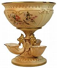 Royal Worcester Blush Ivory Tri Footed Comport