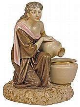 Royal Worcester Figure of a Female Water Bearer