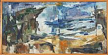Jean Appleton (1911 - 2003) - The Beach 25.5 x 51cm