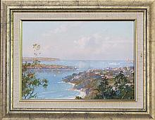 John Allcot (1888-1973) - View Of Sydney Heads 26 x 37cm