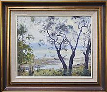 John Allcot (1888 - 1973) - Morning Light , Hawkesbury River 36.5 x 44cm