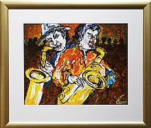 Arthur James (1936 - 2013) - The Saxophonists 49 x 62cm